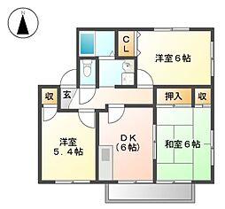 ファミール前田A棟[1階]の間取り