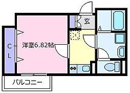 近鉄南大阪線 河内天美駅 徒歩4分の賃貸アパート 3階1Kの間取り