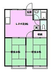 ミヤハイム[2階]の間取り