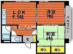 寿マンション[1階]の間取り