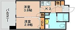 グランフォーレ箱崎アネックス[4階]の間取り