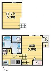 (仮称)ハーモニーテラス東大阪市西堤楠町A棟[2階]の間取り