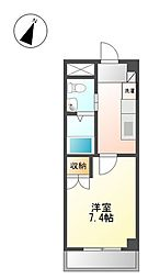 埼玉県日高市高麗川3丁目の賃貸アパートの間取り