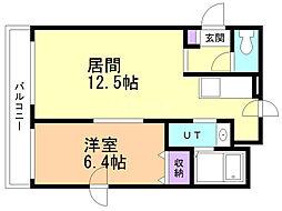 M'Sハウス 2階1LDKの間取り