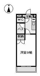 ハウザー高畑 (ハウザータカバタ)[5階]の間取り