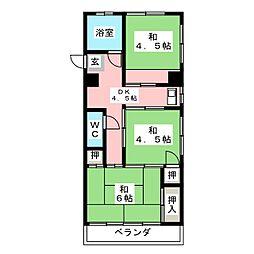 大蔵ビル南棟[4階]の間取り