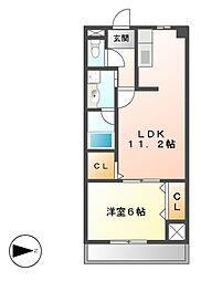 エスポワール中西[2階]の間取り