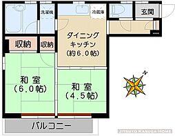 メゾン小幡[201号室]の間取り
