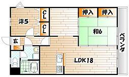 トゥールサンパティック[6階]の間取り