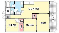 東部買出人センターマンション[303号室]の間取り