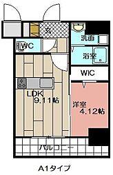 THE HILLS KOKURA[1206号室]の間取り