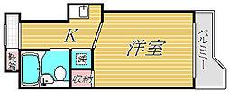 スカイコート綱島第2[3階]の間取り