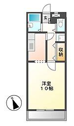 レストポイント園山[3階]の間取り