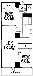 7・8ビル102棟[402号室]の間取り