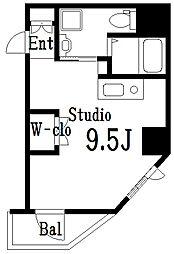 ラ・トルチュ亀戸 4階ワンルームの間取り