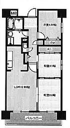 グリーングラス魚崎[5階]の間取り