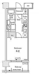 新交通ゆりかもめ 新豊洲駅 徒歩22分の賃貸マンション 3階1Kの間取り