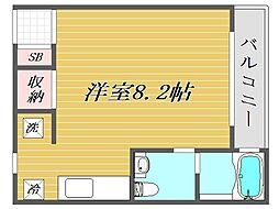 埼玉県蕨市中央3丁目の賃貸アパートの間取り