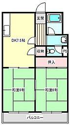 福井マンション[401号室]の間取り