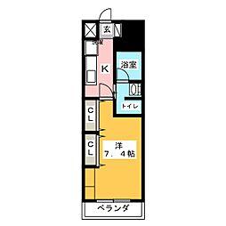 パークアクシス東別院[12階]の間取り