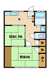 サンライズSK2[1階]の間取り