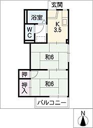 タウニー昭和[1階]の間取り