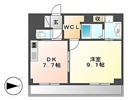 Casoneasso(カゾーネアッソ)[5階]の間取り