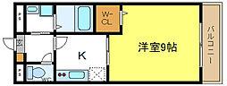 アンプルールフェール六反[3階]の間取り