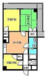 第88杉フラット[403 号室号室]の間取り
