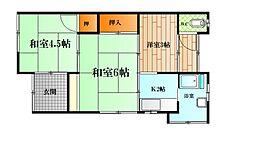 [テラスハウス] 神奈川県横須賀市坂本町2丁目 の賃貸【/】の間取り