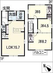 [一戸建] 愛知県名古屋市中川区八幡本通2丁目 の賃貸【/】の間取り