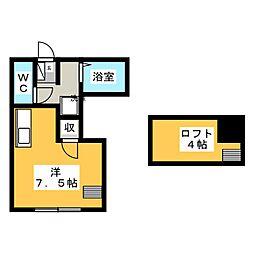 ファイン桜川[1階]の間取り
