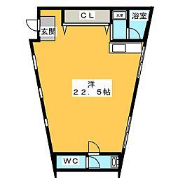 矢野ハウス[1階]の間取り