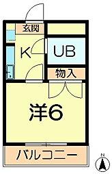 松谷ハイツ[2階]の間取り
