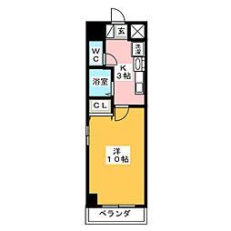 ルミナス新栄[4階]の間取り