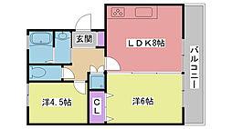 ファーストマンション[B3号室]の間取り