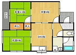[一戸建] 福岡県久留米市高良内町 の賃貸【/】の間取り