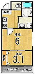 nico西京極[203号室]の間取り