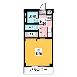 ピッコロハイツ[3階]の間取り