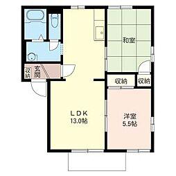 パークビレッヂ B[2階]の間取り