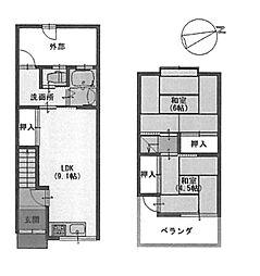 [テラスハウス] 大阪府堺市西区浜寺諏訪森町西3丁 の賃貸【/】の間取り