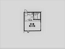 パレス甲東園[204号室]の間取り