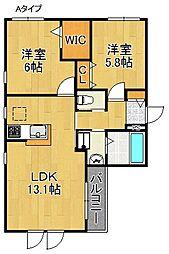 マメゾンU[1階]の間取り