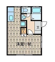 杉山コーポ[101号室]の間取り