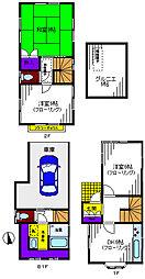 [一戸建] 東京都立川市富士見町4丁目 の賃貸【/】の間取り