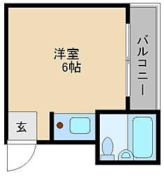 プレアール豊里[4階]の間取り