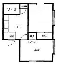 Kハウス馬込[2階]の間取り