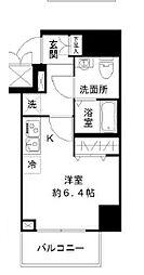 N-stage Toyoda 2階ワンルームの間取り