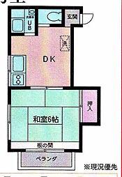 神奈川県相模原市南区相模台5丁目の賃貸アパートの間取り