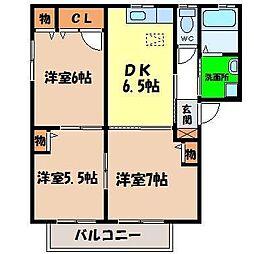 シャーメゾンAKINOKAMI[B101号室]の間取り